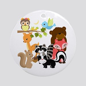 Forest Friends Ornament (Round)
