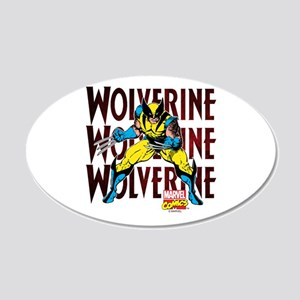 Wolverine 20x12 Oval Wall Decal