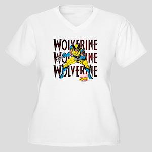 Wolverine Women's Plus Size V-Neck T-Shirt