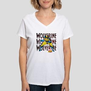 Wolverine Women's V-Neck T-Shirt