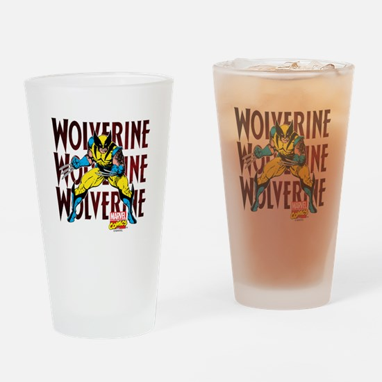 Wolverine Drinking Glass