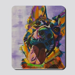 German Shepherd Pup Art Mousepad