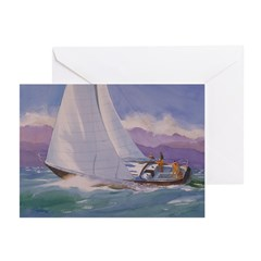 Tacking to Port Note Cards (Pk of 10)