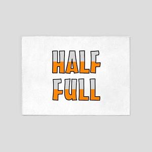 HALF FULL 5'x7'Area Rug