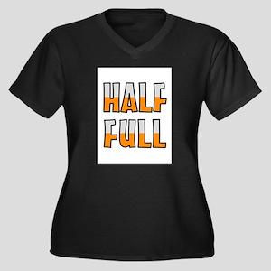 HALF FULL Plus Size T-Shirt