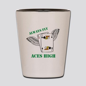 Always Fly Aces High Shot Glass