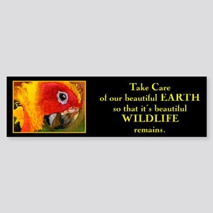 """Take care of beautiful Earth"".. Bumper Sticker"