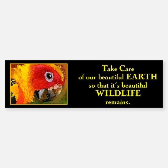 """""""Take care of beautiful Earth"""".. Bumper Bumper Bumper Sticker"""