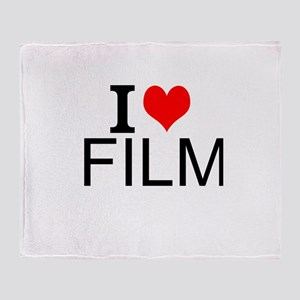 I Love Film Throw Blanket