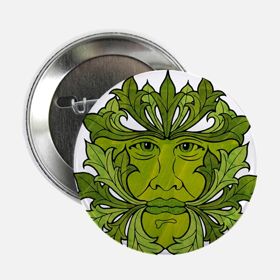 The Greenman of the Summer Solstice Button