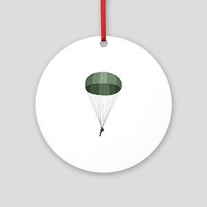Airborne Paratrooper Ornament (Round)