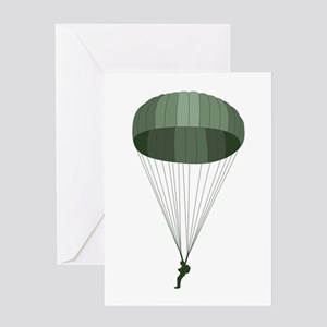 Airborne Paratrooper Greeting Cards