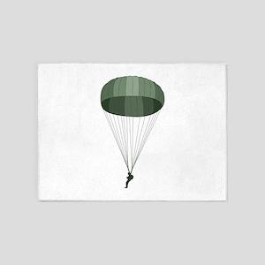 Airborne Paratrooper 5'x7'Area Rug
