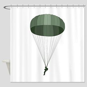 Airborne Paratrooper Shower Curtain
