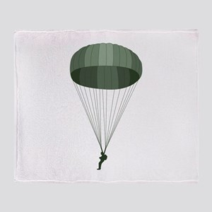 Airborne Paratrooper Throw Blanket