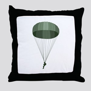 Airborne Paratrooper Throw Pillow