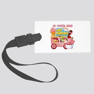 The Ice Cream Truck Large Luggage Tag