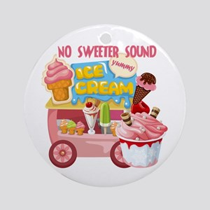 The Ice Cream Truck Ornament (Round)