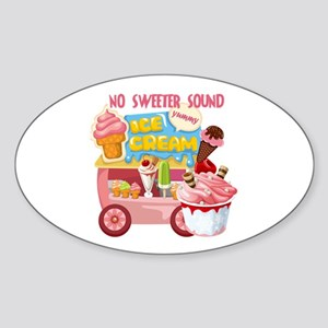 The Ice Cream Truck Sticker (Oval)