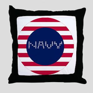 NAVY-C Throw Pillow