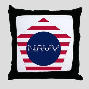 NAVY-P Throw Pillow