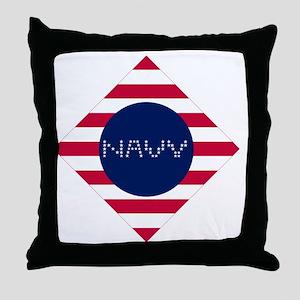 NAVY-D Throw Pillow