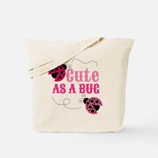 Cute as a bug ladybug girl design Tote Bag