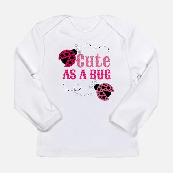 Cute as a bug ladybug girl design Long Sleeve T-Sh