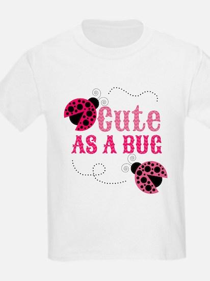 Cute as a bug ladybug girl design T-Shirt
