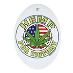 Hemp for Victory Ornament (Oval)