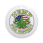 Hemp for Victory Ornament (Round)