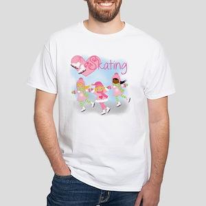 Love Skating White T-Shirt