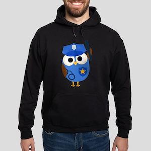 Owl Police Officer Hoodie (dark)