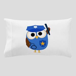 Owl Police Officer Pillow Case