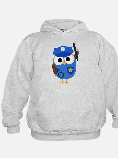 Owl Police Officer Hoodie