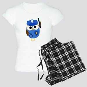 Owl Police Officer Women's Light Pajamas