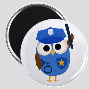 Owl Police Officer Magnet