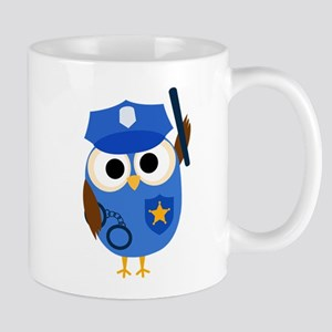 Owl Police Officer Mug