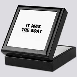 it was the goat Keepsake Box
