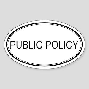 PUBLIC POLICY Oval Sticker