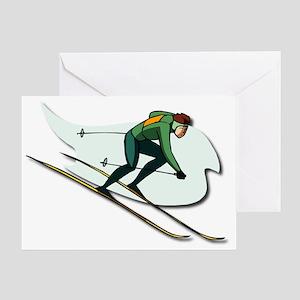 ski Greeting Card