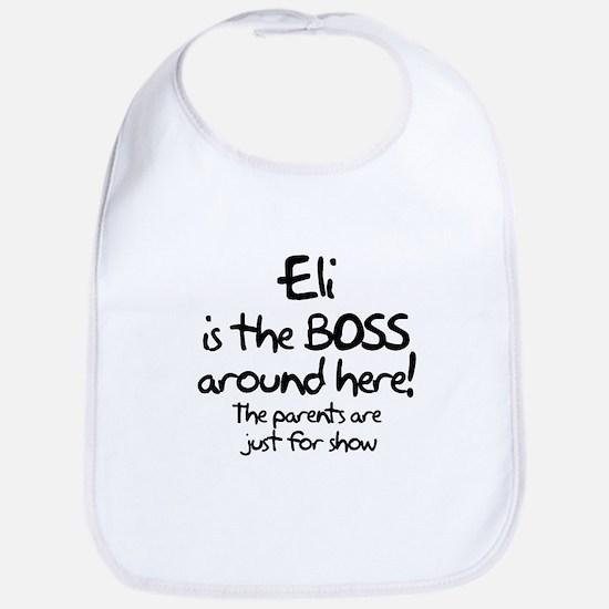 Eli is the Boss Bib