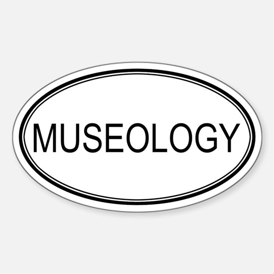 MUSEOLOGY Oval Decal