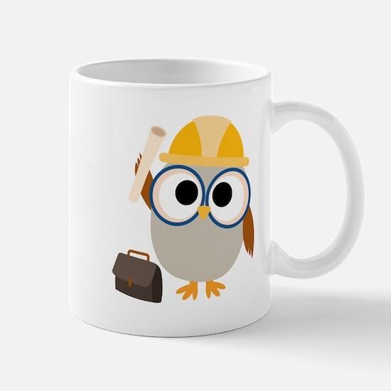Construction Worker Owl Mug