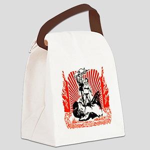 Chinese Propaganda Canvas Lunch Bag