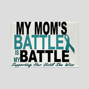 Moms Battle Rectangle Magnet
