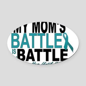 Moms Battle Oval Car Magnet