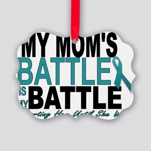 Moms Battle Picture Ornament