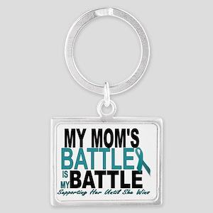 Moms Battle Landscape Keychain