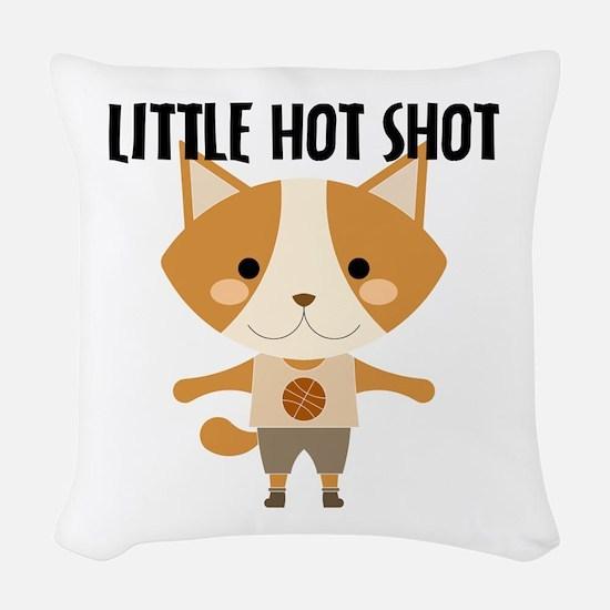 Fox Hot Shot Basketball Woven Throw Pillow